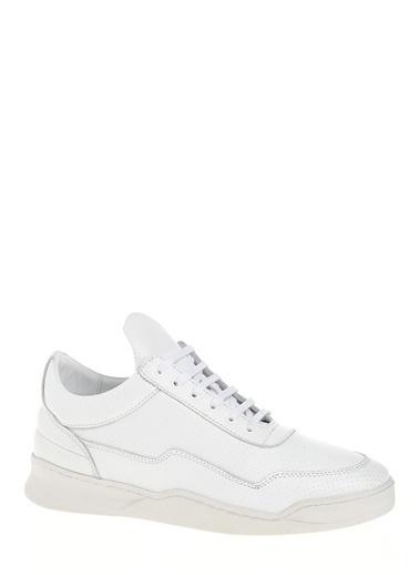 D by Divarese %100 Deri  Spor Ayakkabı Beyaz